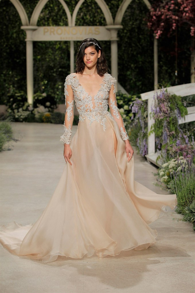 The Bride's Diary | Bridal Fashion Trends For Spring 2019 | Atelier Pronovias Nude Gown
