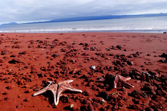 10. Red sands of Rabia Beach, Galapagos