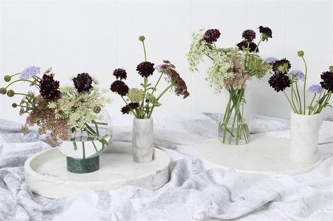 The Bride's Diary | Style Your Winter Wedding With Marble | Marble Vases