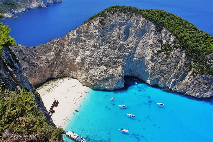 4. Shipwreck Beach - Zakynthos, Greece