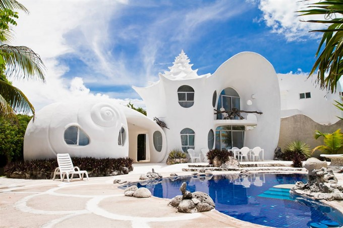 9. Stay in the famous seashell house in Isla Mujeres, Mexico