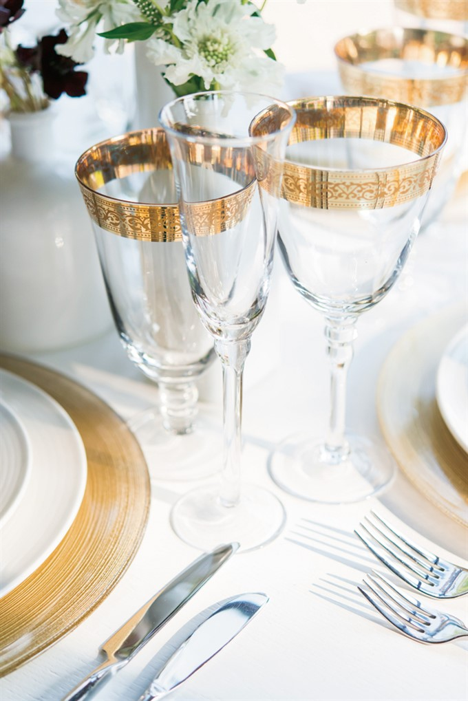The Bride's Diary | Styling With Gold For A Summer Wedding | Gold Wedding Reception