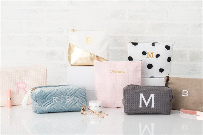 9. Monogram Make-up Bags