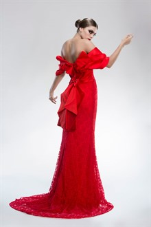 Lena Kasparian | Bridal Gown | Red Evening Dress