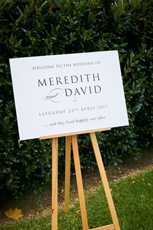 R Weddings | Yarra Valley Wedding | Wedding Sign