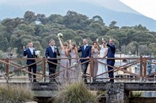 Lake Crackenback Resort | Lauren Paterson Photography | Bridal Party On A Bridge