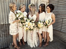 Esh Photography | Real Wedding | White Dress Bridesmaids