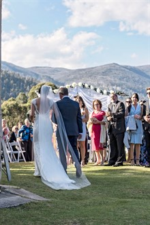 Lake Crackenback Resort | Lauren Paterson Photography | Father And Bride At Ceremony