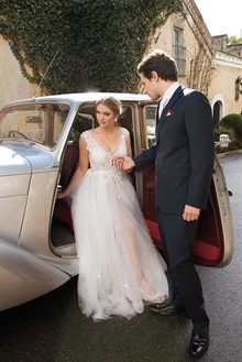 Gown by Cinderella Bridal & Evening, Shoes by Alan Pinkus, Suit by Ferrari Formalwear