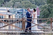 Lake Crackenback Resort | Lauren Paterson Photography | Couple On A Bridge