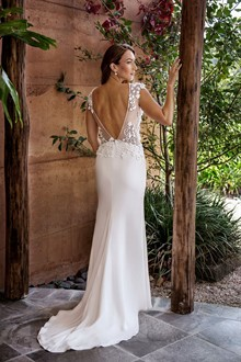 Corston Couture | Wedding Gowns | Backless Lace Wedding Dress