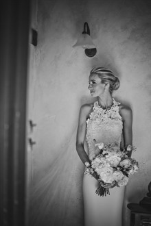 Alexis George | High Necked Wedding Dress