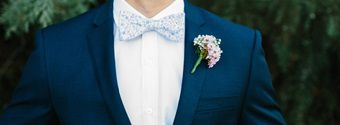 A Navy Blue Suit For The Groom