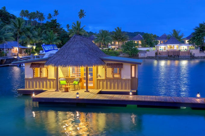 Stay in the ONLY Floating Bure's in the South Pacific