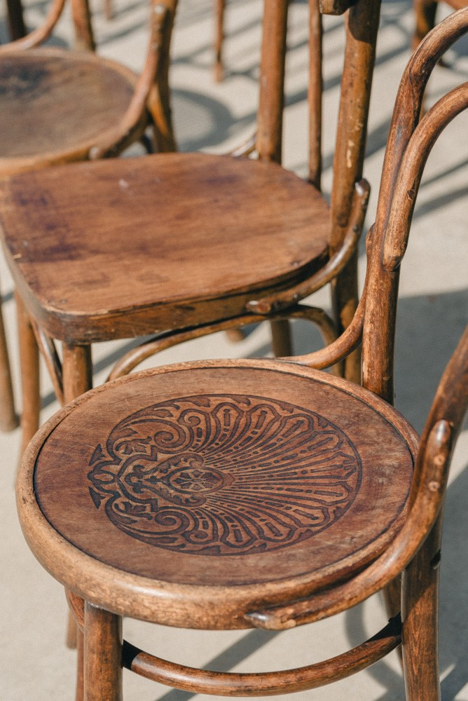Vintage Patina's Bohemian Glam Styled Shoot - Bentwood Chair