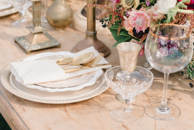 Vintage Patina's Bohemian Glam Styled Shoot - Table Setting