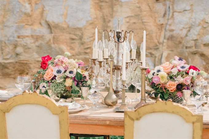 Vintage Patina's Bohemian Glam Styled Shoot - Styled Table