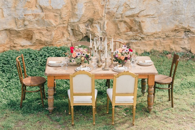 Vintage Patina's Bohemian Glam Styled Shoot - Reception Table