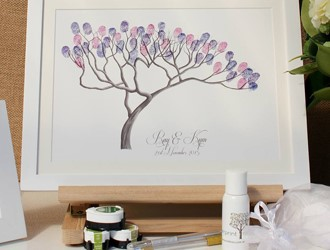 Wedding Guestbook Ideas: The Fingerprint Tree
