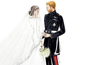 Alexandra Nea Graham's Royal Wedding Illustrations