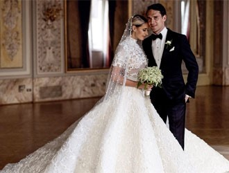 This Bride Wore 3 Wedding Dresses & The Most Extravagant Was Meters Long
