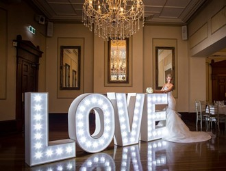 Glam-Up Your Wedding With Love Lights!