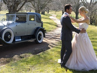 Your Send Off in a Chic Vintage Car