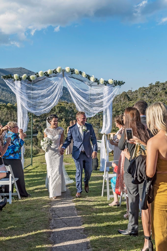 Lake Crackenback Resort | Lauren Paterson Photography | Couple Leaving Ceremony