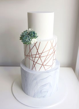 Ivy & Stone Cake Design | Wedding Cakes | Rose Gold Wedding Cake