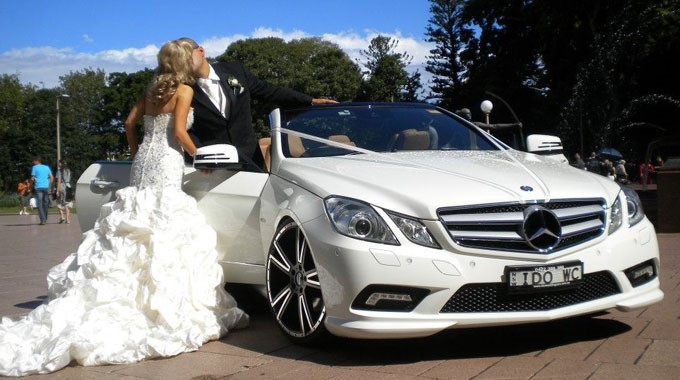 I Do Wedding Cars | Wedding Transport | Mercedes Convertible