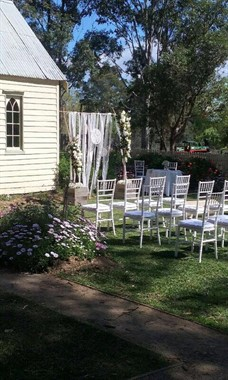 Campbelltown Chair and Party Hire | Event Hire | Church Wedding Ceremony