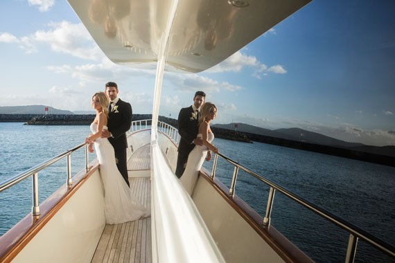 Lure, Abell Point Marina | Bride And Groom On A Boat