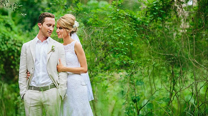 Angourie Rainforest Resort | Wedding Venue | Bride & Groom