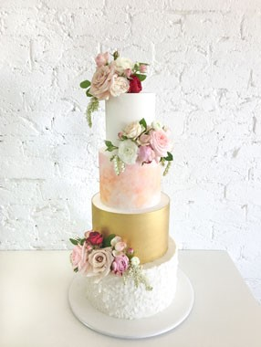 Ivy & Stone Cake Design | Wedding Cakes | 4 Tier Wedding Cake
