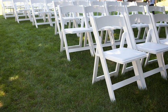 McHugh Hire | Event Hire | White Wedding Chairs