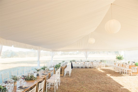 Domayn Events | Event Hire | White Marquee