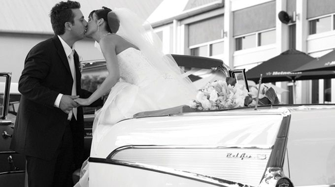 All American 57 Chevy Services | Wedding Transport | Married Couple