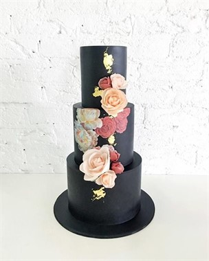 Ivy & Stone Cake Design | Wedding Cakes | Black Wedding Cake