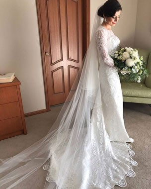 Bizzaro Bridal Couture | Bridal Fashion | Long Sleeve Wedding Gown