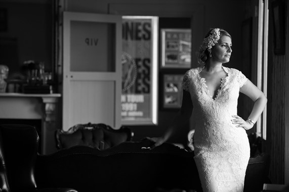 Upstairs at Freds | Wedding Venue | Black & White Wedding Photography