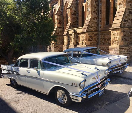 All American 57 Chevy Services | Wedding Transport | Adelaide Wedding Cars