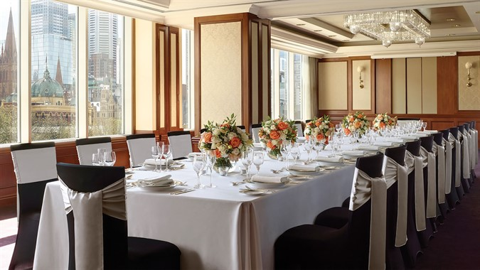 The Langham Hotel, Melbourne | Wedding Venue | Reception Setting