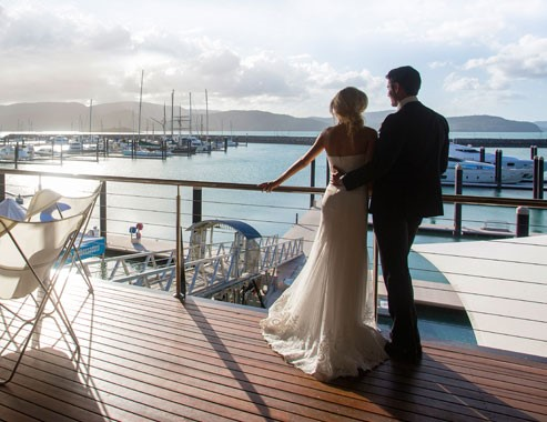 Lure, Abell Point Marina | Wedding Couple On Deck