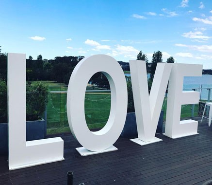 Love Letters CBR | Event Hire | Love Sign