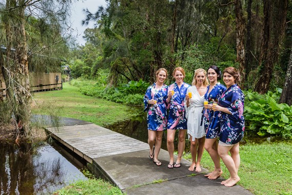Angourie Rainforest Resort | Wedding Venue | Bridal Party Robes