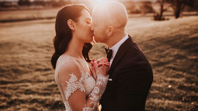 The Evoke Company | Wedding Photography | Bride And Groom | Sunset