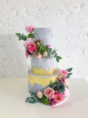 Ivy & Stone Cake Design | Wedding Cakes | Water Colour Wedding Cake