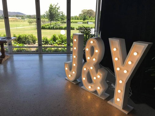 Love Letters CBR | Event Hire | Wedding Props